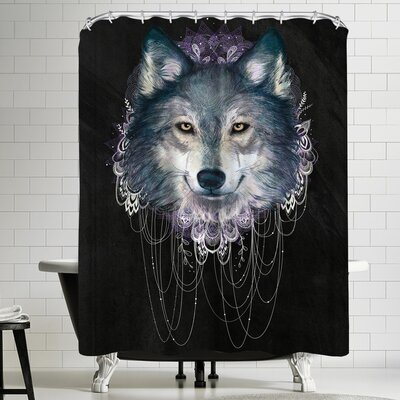 Laura Graves Wolf Shower Curtain