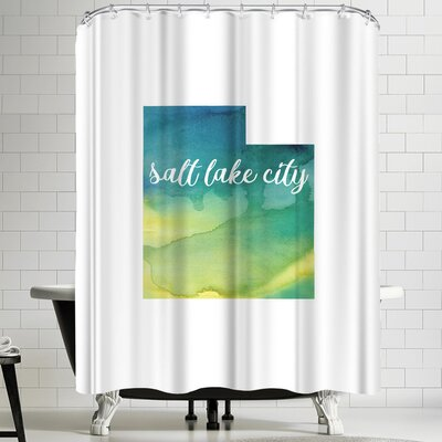 Paperfinch UT Salt Lake City Shower Curtain