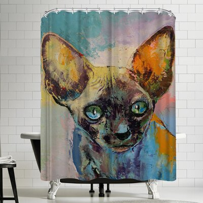 Michael Creese Sphynx Cat Portrait Shower Curtain