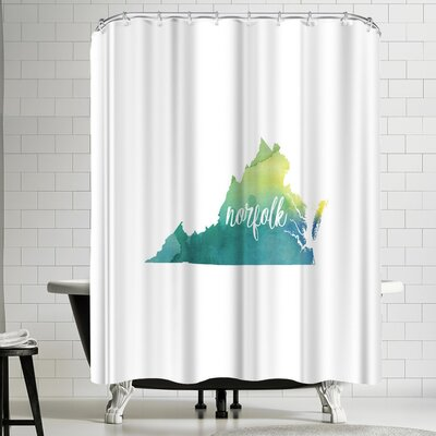Paperfinch VA Norfolk Shower Curtain