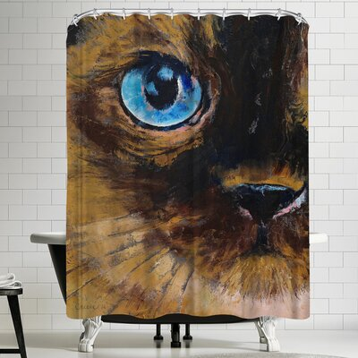 Michael Creese Tonkinese Cat Shower Curtain