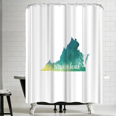 Paperfinch VA Virginia Beach Shower Curtain