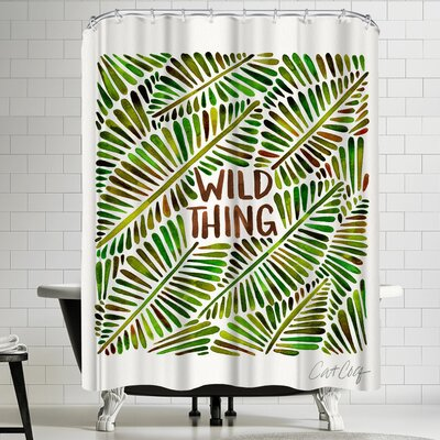 Cat Coquillette Wild Thing Shower Curtain