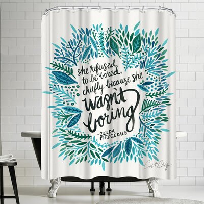 Cat Coquillette Zelda Fitzgerald Shower Curtain
