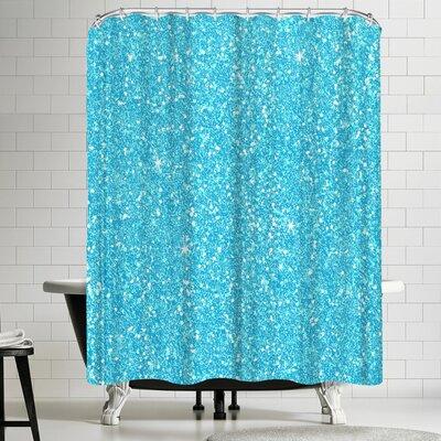 Wonderful Dream Blue Shiny Glimmer Shower Curtain