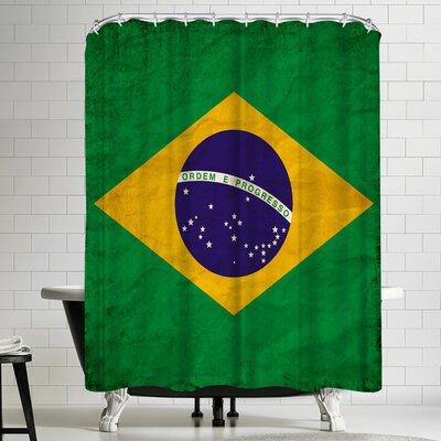 Wonderful Dream Brasil Flag Shower Curtain