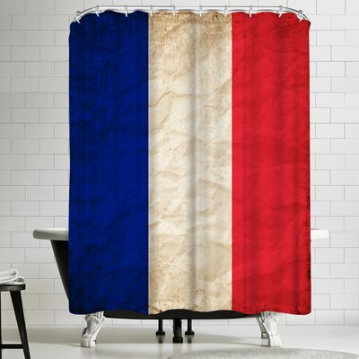 Wonderful Dream France Paris Flag Shower Curtain
