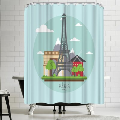 Wonderful Dream France Paris Shower Curtain