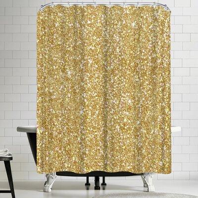 Wonderful Dream Golden Luxury Shower Curtain