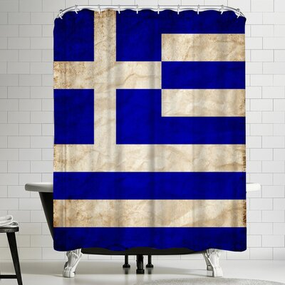 Wonderful Dream Greece Flag Shower Curtain