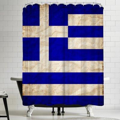 Wonderful Dream Greece Flag Shower Curtain