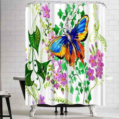 Suren Nersisyan Butterfly an Lflowers Shower Curtain