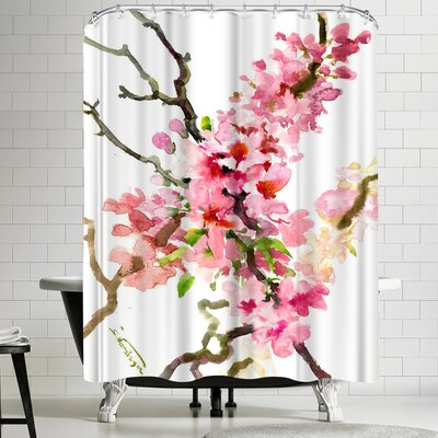 Suren Nersisyan Cherry Blossom, Sakura 2 Shower Curtain