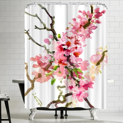 Suren Nersisyan Cherry Blossom, Sakura 3 Shower Curtain