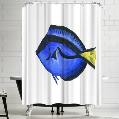 Suren Nersisyan Coral Fish Angelfish Suren 1 Shower Curtain