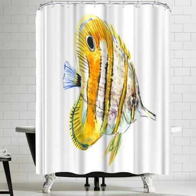 Suren Nersisyan Coral Fish Angelfish Suren 2 Shower Curtain