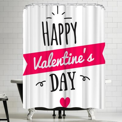 Wonderful Dream Happy Valentine Day Shower Curtain