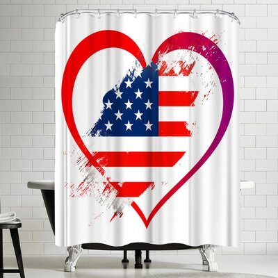 Wonderful Dream Heart America Shower Curtain