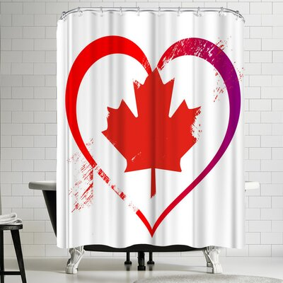 Wonderful Dream Heart Canada Shower Curtain