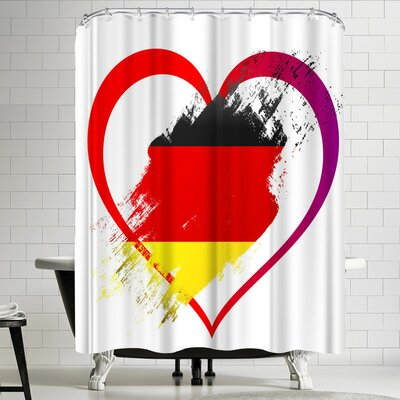Wonderful Dream Heart Germany Shower Curtain