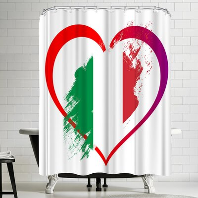 Wonderful Dream Heart Italy Shower Curtain