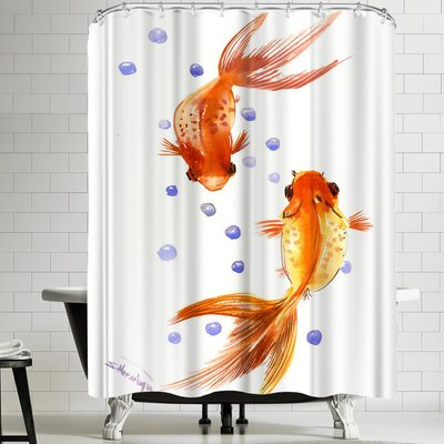 Suren Nersisyan Feng Shui Goldfish Koi 1 Shower Curtain
