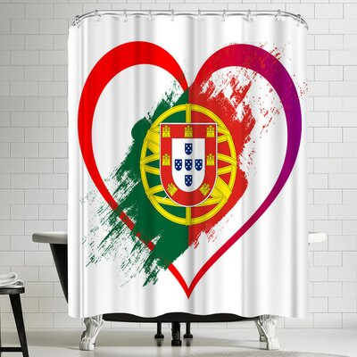 Wonderful Dream Heart Portugal Shower Curtain