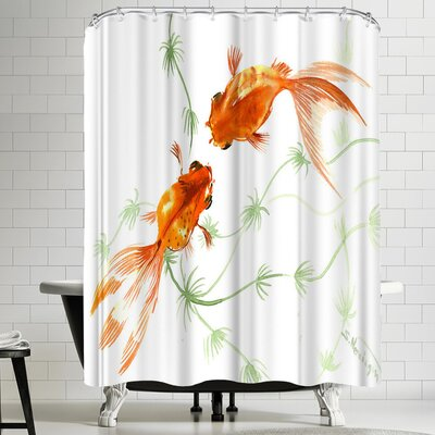 Suren Nersisyan Feng Shui Goldfish Koi 2 Shower Curtain