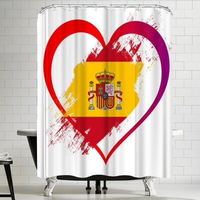 Wonderful Dream Heart Spain Shower Curtain