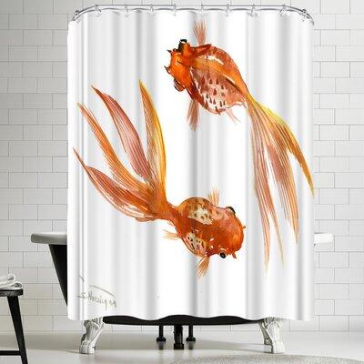 Suren Nersisyan Feng Shui Goldfish Koi 3 Shower Curtain