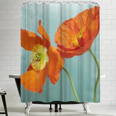 Maja Hrnjak Poppy Flower 3 Shower Curtain