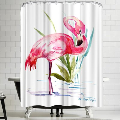 Suren Nersisyan Flamingo 1 Shower Curtain