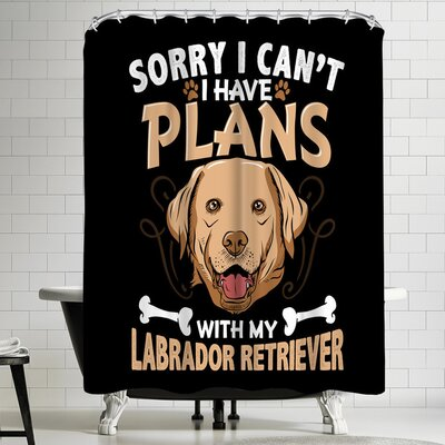 Wonderful Dream Labrador Retriever Dog Shower Curtain