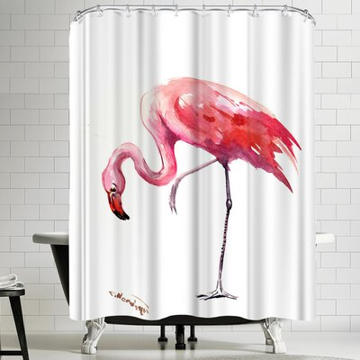 Suren Nersisyan Flamingo 2 Shower Curtain
