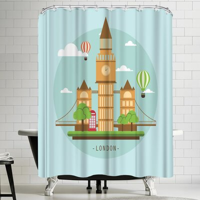 Wonderful Dream London Shower Curtain