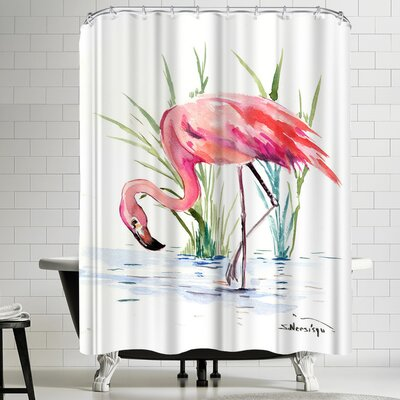 Suren Nersisyan Flamingo 4 Shower Curtain