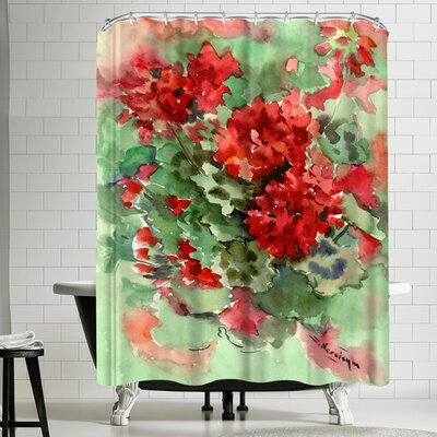 Suren Nersisyan Geranium 1 Shower Curtain