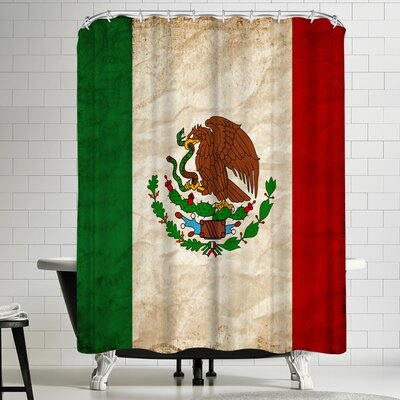 Wonderful Dream Mexico Flag Shower Curtain