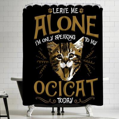 Wonderful Dream Ocicat Cat Pet Shower Curtain