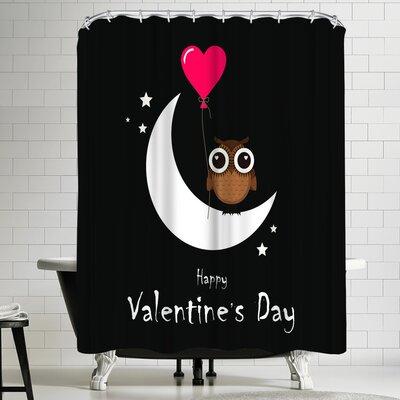 Wonderful Dream Owl Valentine Day Shower Curtain