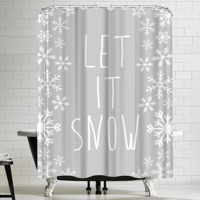Jetty Printables Fray Let it Snow Winter Shower Curtain