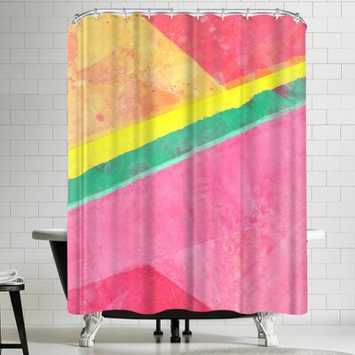 Tracie Andrews Twisted Melon Shower Curtain
