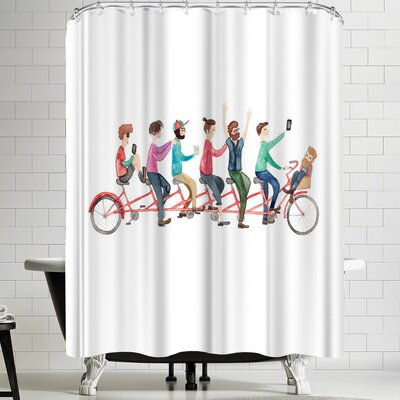Elena Oneill Bike Ride Shower Curtain