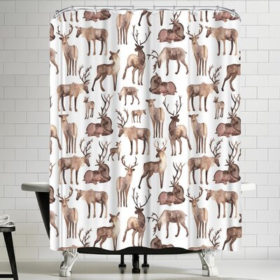 Elena Oneill Deer Shower Curtain