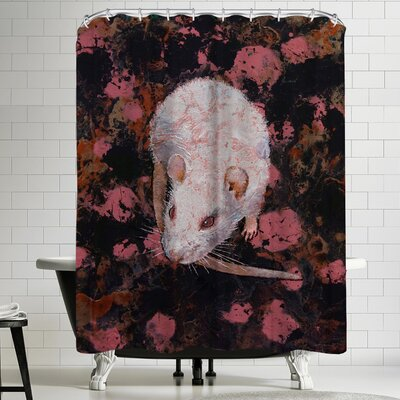 Michael Creese White Rat Shower Curtain