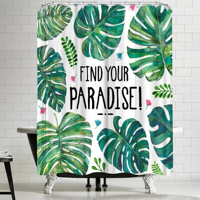 Elena Oneill Find Your Paradise Shower Curtain