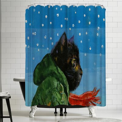 Michael Creese Winter Kitten Shower Curtain
