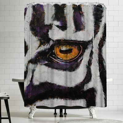 Michael Creese Zebra Shower Curtain