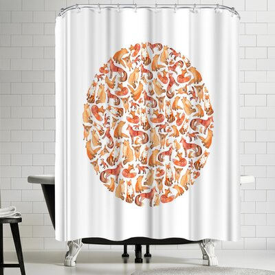 Elena Oneill Fox Circle Shower Curtain