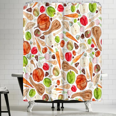 Elena Oneill Fruit and Veg Shower Curtain